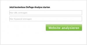 URL und Keyword Eingabe